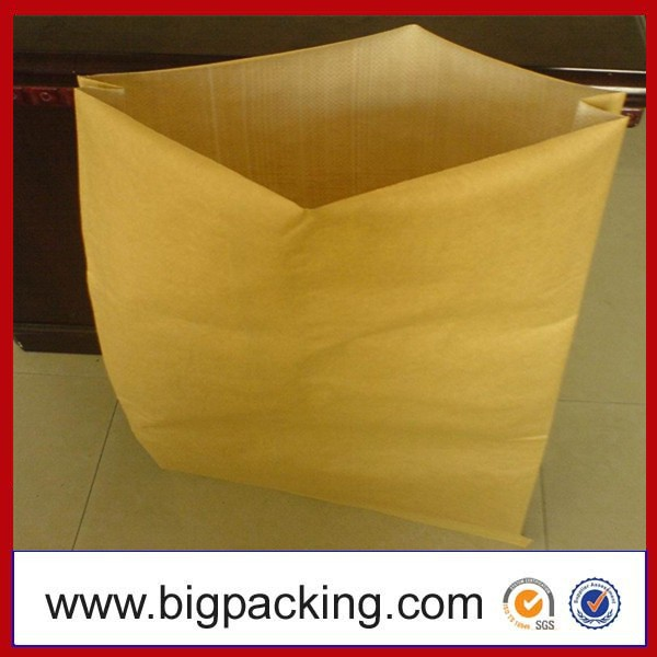 paper - plastic composite bag ,Fertilizer Plastic-Paper Bags with easy tape