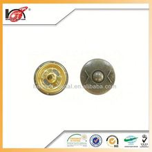 Press On Buttons Metal Clip 4 Parts Snap Button With Custom Logo