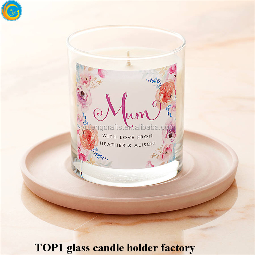 Custom wholesale glass jar crafts for mum