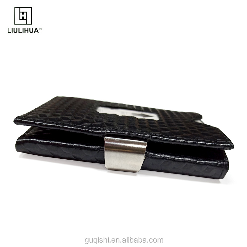 2019 New Style three fold wallet business card holder RFID bloking card case