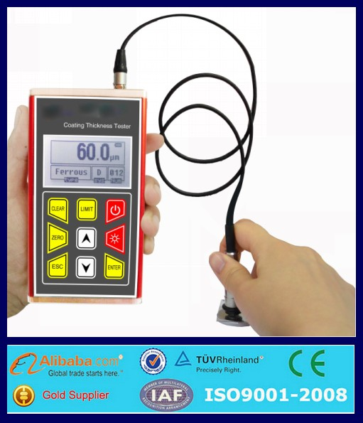 YCT300 portable digital elcometer paint coating thickness gauge