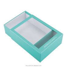 Blue Customized Disign Paper Gift Box Square Flower Box