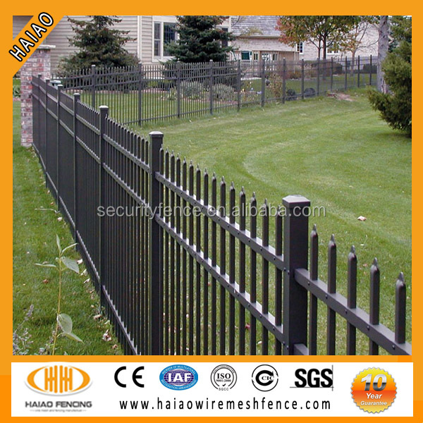 Made in China Galvanized and powder coated Black 1.8m high panel Residential Pressed spears Hot sale Low price iron fence
