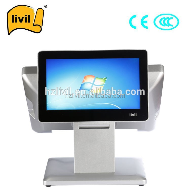 15'' capacitive Direct touch pos dual core retail pos tablet with 2lines display