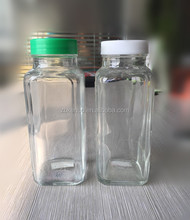8 oz Frenceh Square glass bottle for juice