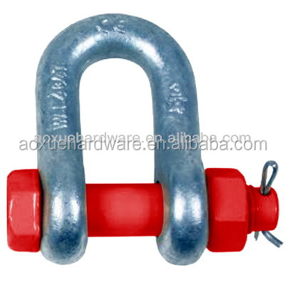 spraying plastics safety pin chain Shackles; d shackle,anchor shackle, forged shackle