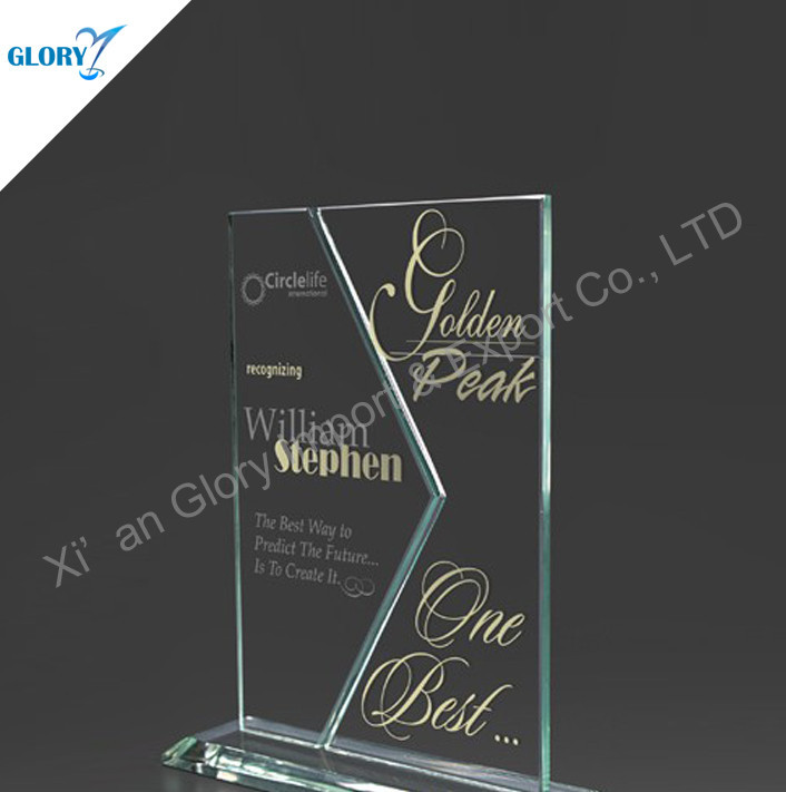 Innovative Stylish Crystal Book Shaped Glass Award Trophy
