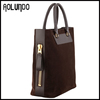Cheap price Suede men bag genuine leather suede bag for men