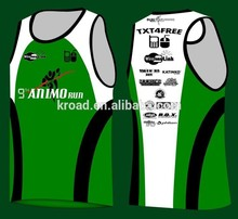 Wholesale Running Singlets, Male and Female Running Vest, China Guangzhou Suppliers