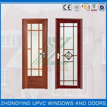 Sliding type pvc bathroom door glass panel