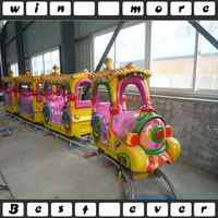 kids amusement park rides manufacturer indoor/outdoor playground electric train for money