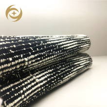 wholesale new design white and black stripe polyester cvc cotton fabric