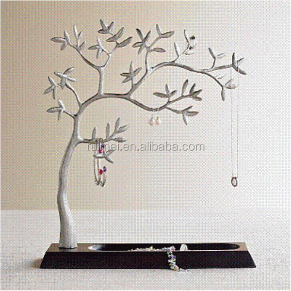 Table-top Wire Tree Style Display For Jewelry