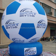 logo printing standing 5m diameter giant inflatable football sphere for advertising