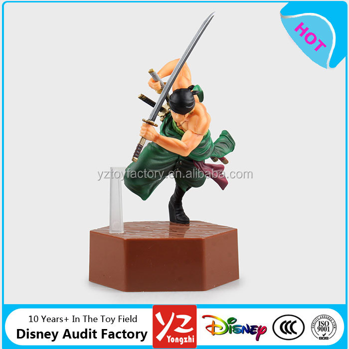 20cm high quality Japanese aniem one piece roronoa zoro 4th action figure