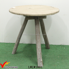 Knock Down Round Rustic Vintage Wooden Coffee Table Designs