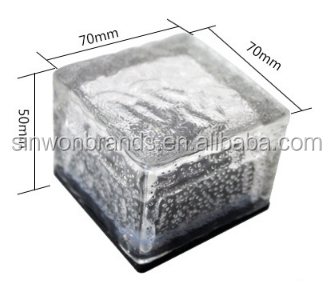 Led Colour Changing Solar Garden Glass Brick Lights
