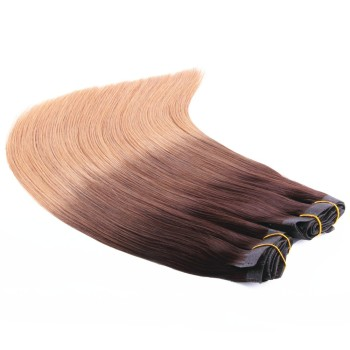 Unprocessed Remy Cheap Double Drawn 100%Human Virgin Hair Clip In Hair Extension