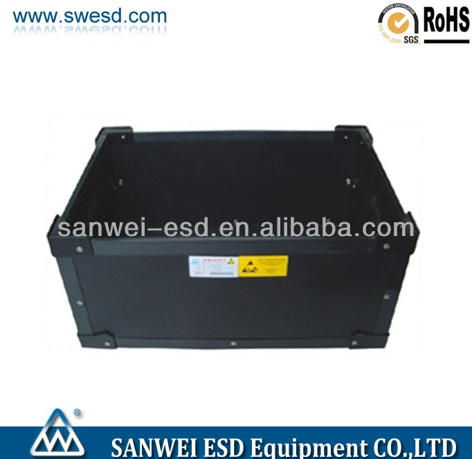 ESD antistatic PP corrugated black box manufacturer