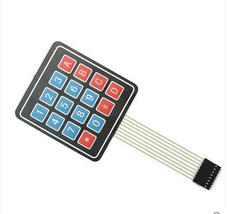 4x4 Matrix 16 Key Membrane Switch Keypad, 4x4 Matrix Keyboard