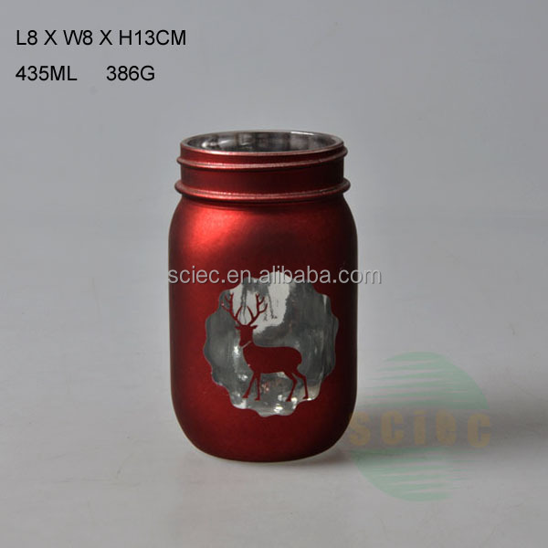 Electroplating process colorful glass bottle with pattern