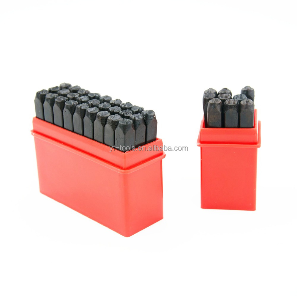 2MM-12.5MM Number and Letter Punch Set Punch Alphabet Set Stamp Tool
