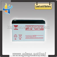 Reliable quality battery 12v 7ah price yuasa np7-12 deep cycle maintenance free batteries 12v 7ah rechargeable accumulator