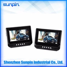 Fast delivery wholesale price Sunpin 7 inch portable car DVD player with car charger/headrest mount