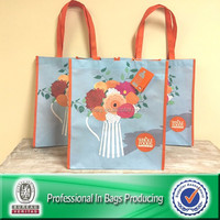 Lead Free Sublimation Printed 100% Post-consumer Plastic Bottles Recycle Shopping Bag