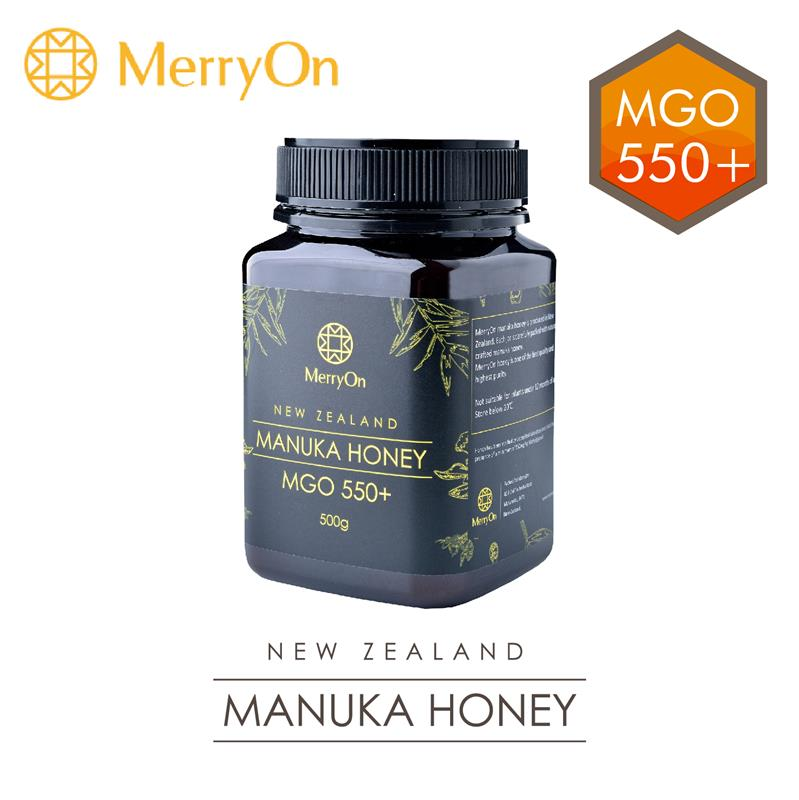 MerryOn 100% NZ MGO 550+ Manuka 500g royal sweet black honey