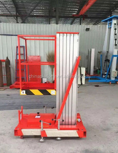 CE Approved Single Mast Aluminum Hydraulic Lift for Painting Personal Manlift