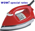 JP-2017 electric iron heavy duty dry iron 1000W gold/grey/polishing soleplate