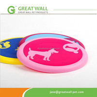 customer logo print silicon rubber pet frisbee