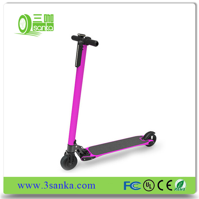 30km long range 10.4ah CE/RoHs certificated Cheap foldable carbon fiber 2 wheel electric scooter