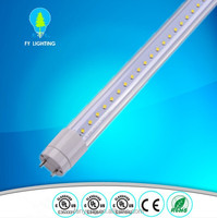 High Efficiency 4ft 5ft 6ft 8ft T8 LED Fluorescent Tube ballast compatible direct replace tube