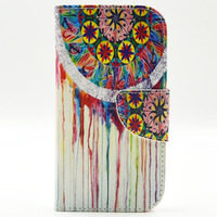 cool painting leather flip cover case for samsung galaxy s3 OEM free sample