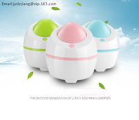 Cool Mist USB Mini Portable Quiet Personal Travel Humidifier with Night Light, Auto Safety Shut-off,Timer function, Adapter & Fi