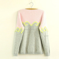 2014 winter new candy-colored sweater female models thick loose three-dimensional small balls hit color pullover wild