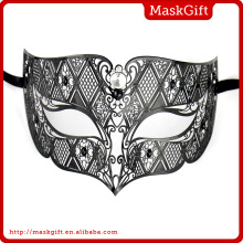 Perfect!!! Hot Sell Wholesale MD008-BK Filigree Metal Laser Cut Venetian Man Masquerade Party Masks With Crystals MD008-BK
