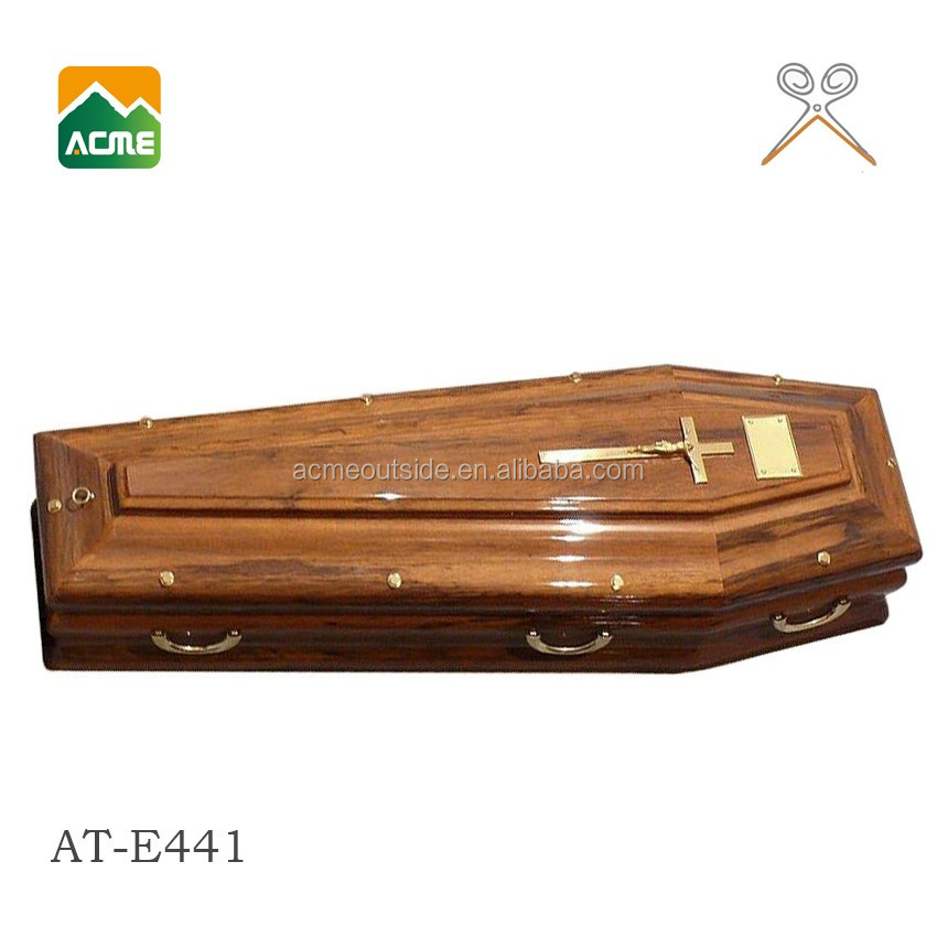 AT-E441 european-style antique wooden coffin