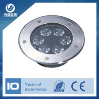 Outdoor landscape LED inground lights solar lights 6W high power underground light