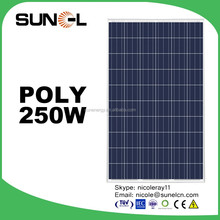 A grade PV panels from YIWU Poly solar panel 250w price