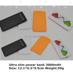 Promotional 3500mah card style private mould Portable Power Bank mobile power for permium gift