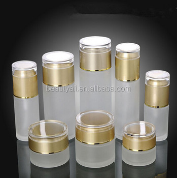 20ml 30ml 50ml Wholesale cosmetic packaging white glass cosmetic bottle