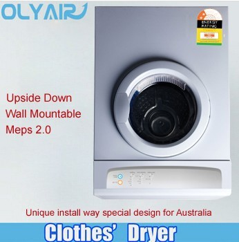 Australia wall mounted upside down clothes dryer 7kg with MEPS two star