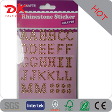 Personalized glitter cell phone case cover design rhinestone letters stickers