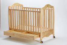 Baby furniture oak solid wood baby cribs and bed baby