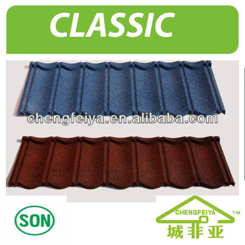 Africa popular stone coated metal roof tile/roof sheet