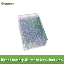 "Free shipping Promotional wholesale Holographic 9""X12"" bubble Mailers Air bubble Decorative holographic padded Envelopes"