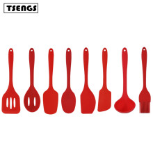8pcs hot sale personalized colorful kitchen food silicone kitchen utensils